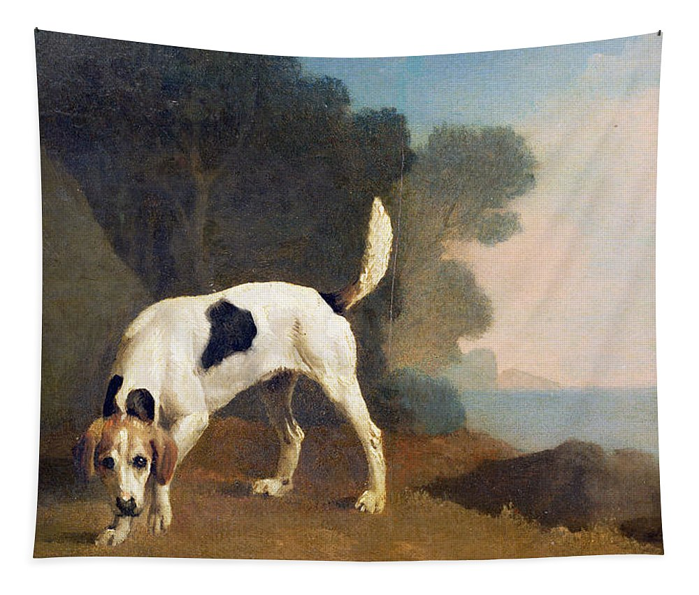 Xyc158003 Tapestry featuring the photograph Foxhound On The Scent by George Stubbs