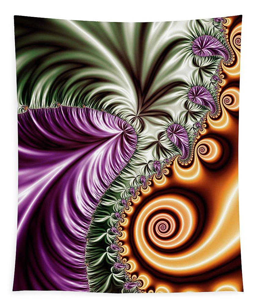 Fractal Design Tapestry featuring the digital art Fractal Design 7 by Prar Kulasekara