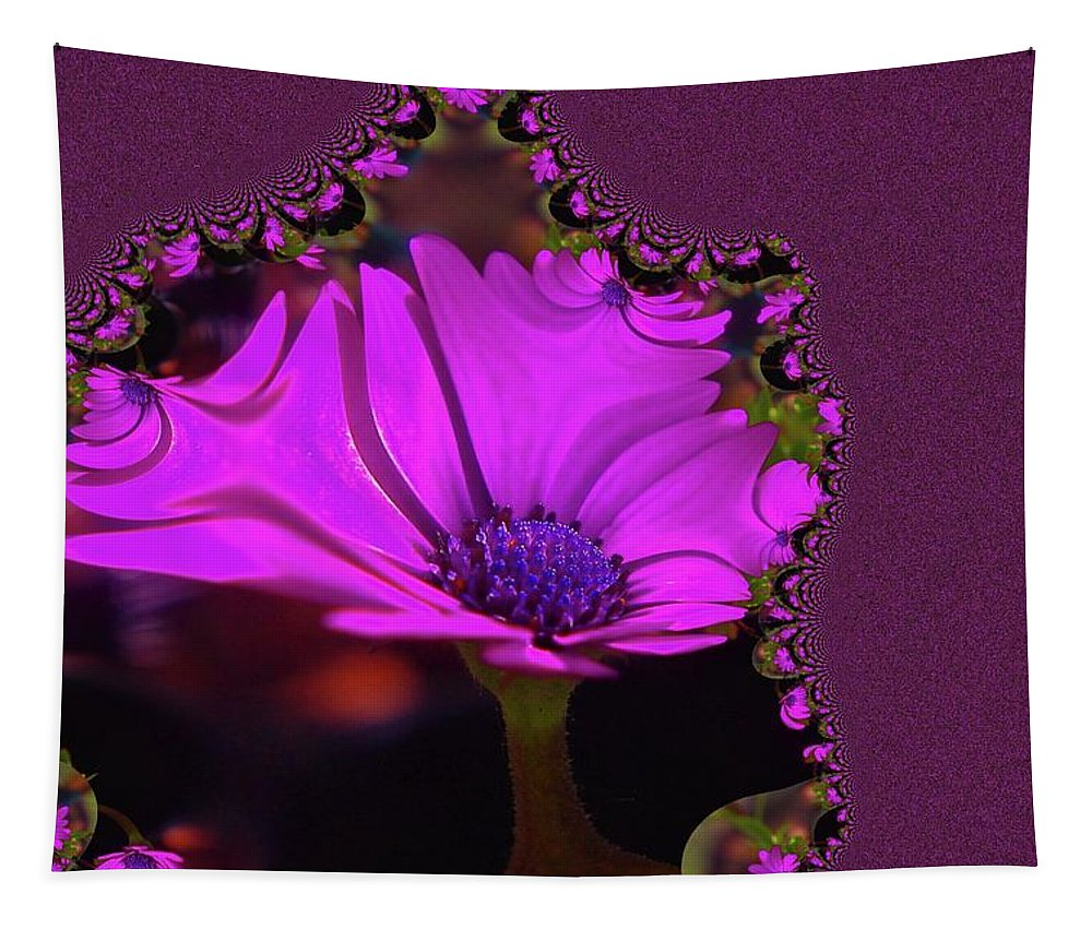 Abstract Tapestry featuring the photograph Fractual Flower by Jeff Swan