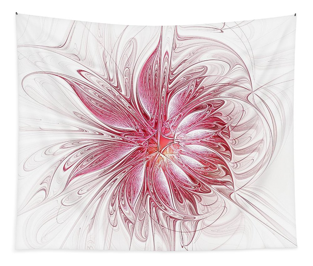 Digital Art Tapestry featuring the digital art Fragile by Amanda Moore