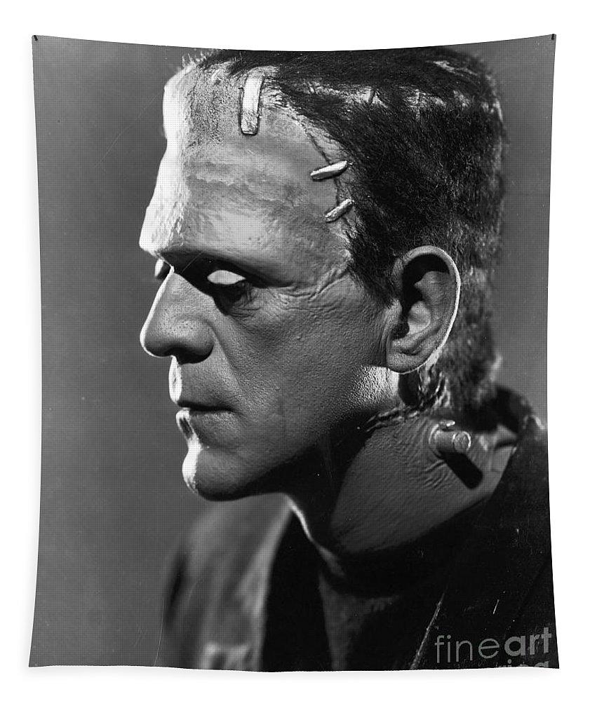 Frankenstein.monster Tapestry featuring the photograph Frankenstein by R Muirhead Art