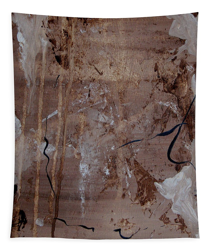 Abstract Tapestry featuring the painting Freedom Of Expression by Ruth Palmer