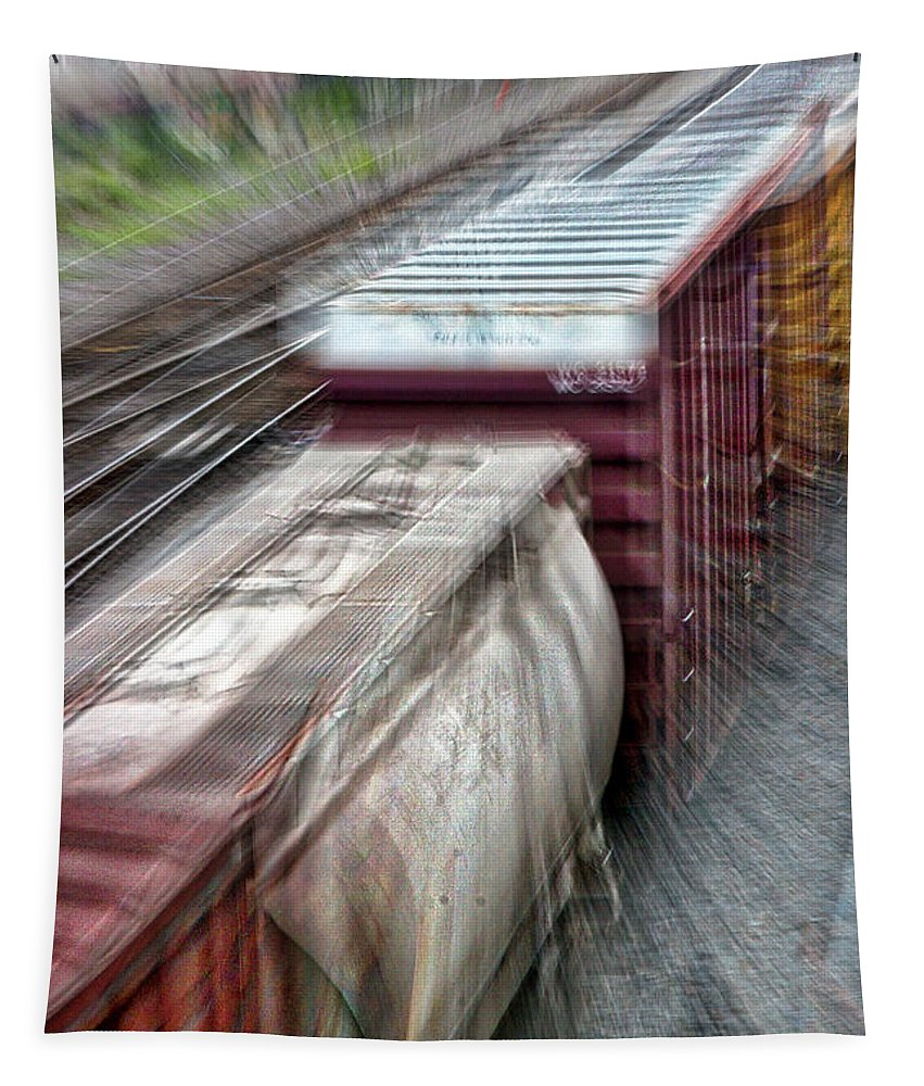 Roanoke Tapestry featuring the photograph Freight Train Abstract by Stuart Litoff