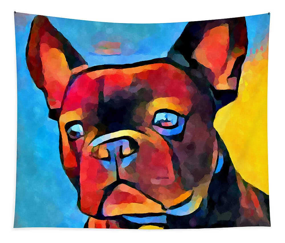 French Bulldog Tapestry featuring the painting French Bulldog by Chris Butler