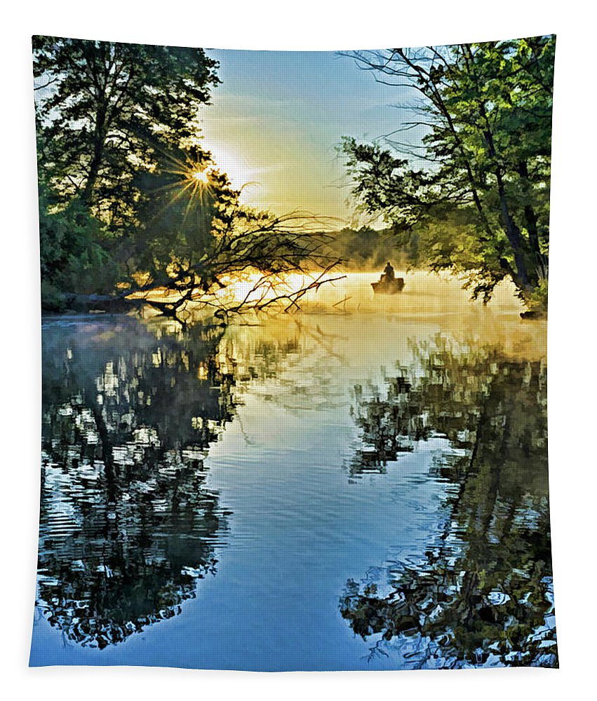 Pennsylvania Tapestry featuring the photograph French Creek 17-037 by Scott McAllister