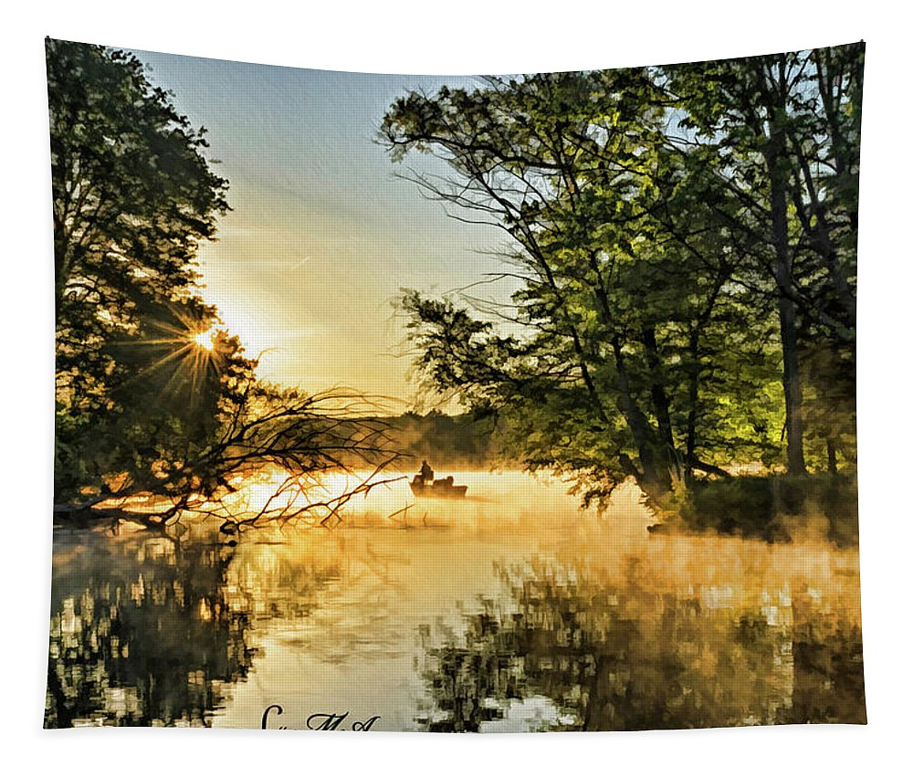 Pennsylvania Tapestry featuring the photograph French Creek 17-038 by Scott McAllister