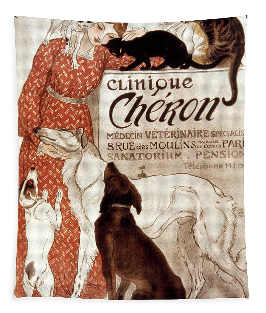 1894 Tapestry featuring the photograph French Veterinary Clinic by Granger