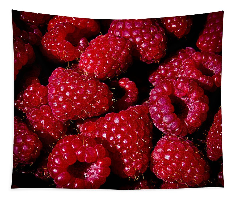 Raspberries Tapestry featuring the photograph Fresh Picked Raspberries by David Patterson
