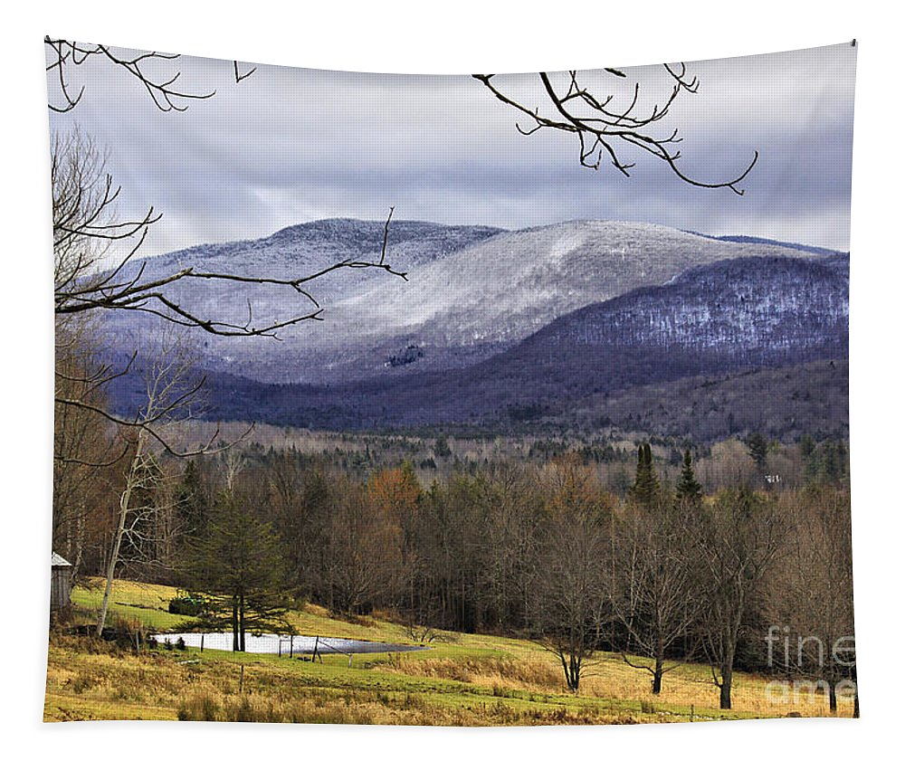 Rural Tapestry featuring the photograph Fresh Snow by Deborah Benoit