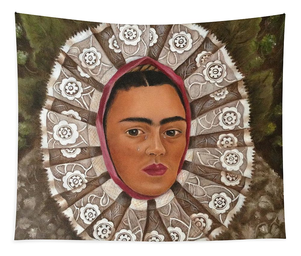 Mexico Tapestry featuring the painting Frida Kahlo Tehuana by Yelena Day