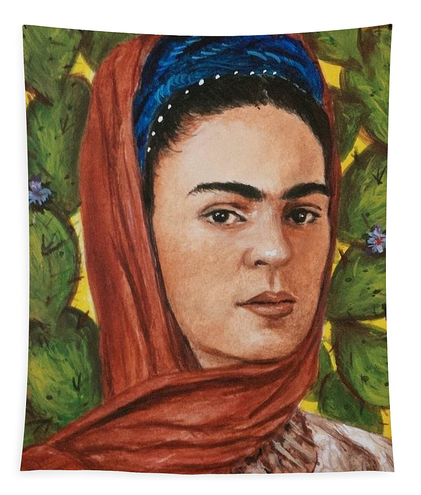 Frida Tapestry featuring the painting Frida by Yelena Day