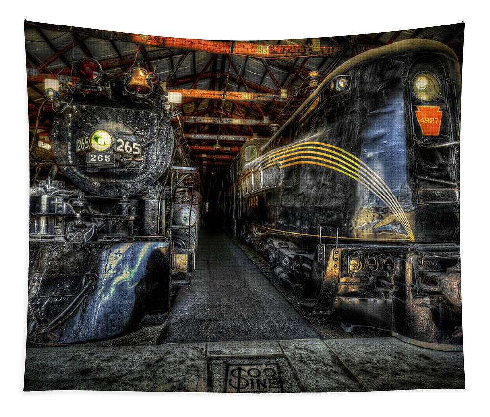 Steam Tapestry featuring the photograph From Steam To Electric by Robert Storost
