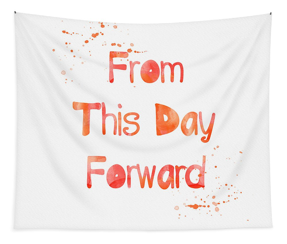 From This Day Forward Tapestry featuring the painting From This Day Forward by Linda Woods