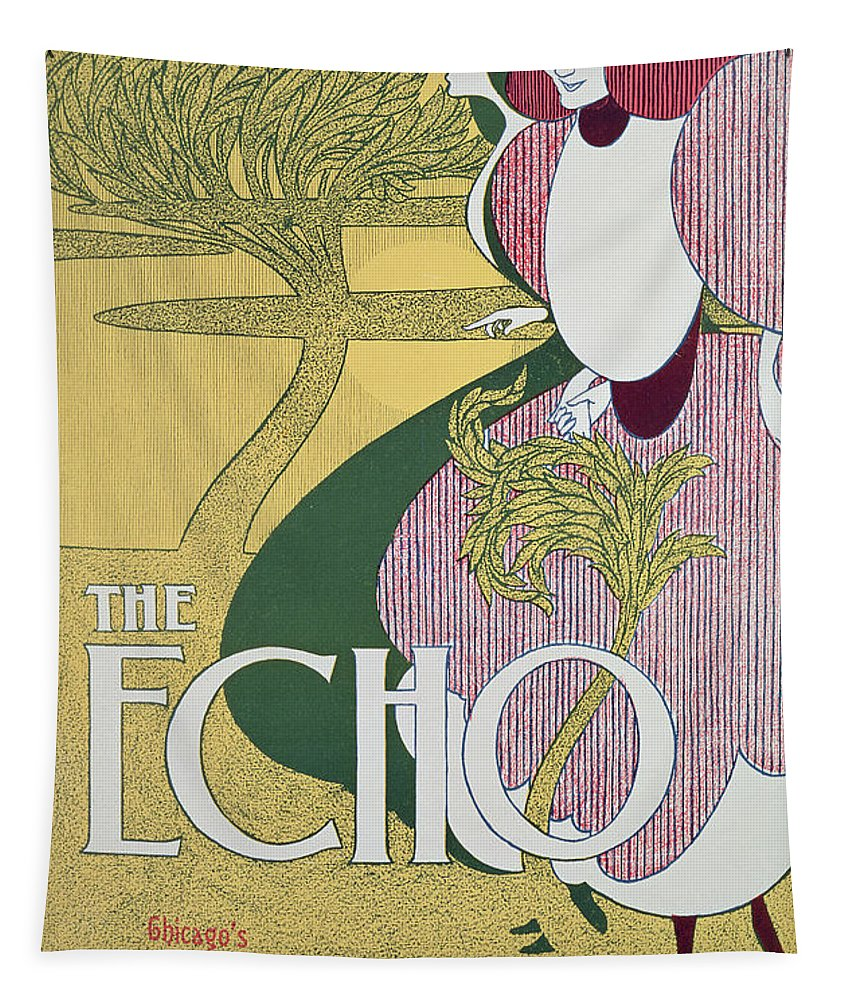 Echo Tapestry featuring the painting Front Cover Of The Echo by William Bradley