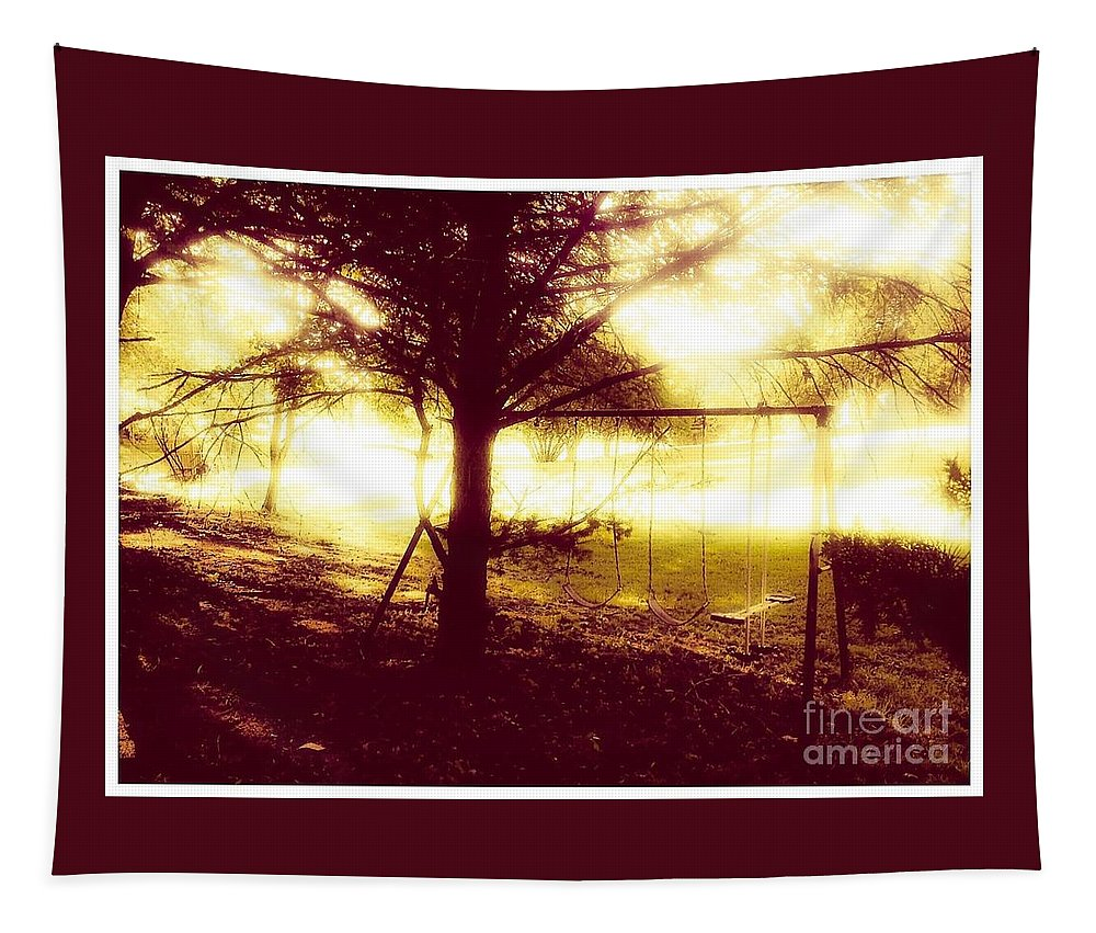 Complete Tapestry featuring the photograph Frozen In Time by Debra Lynch