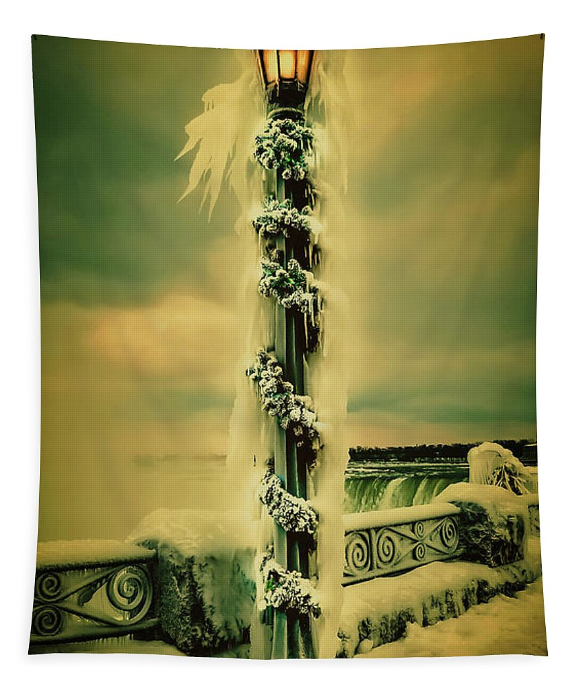 Niagara Falls Tapestry featuring the photograph Frozen Over Niagara Falls by Unsplash