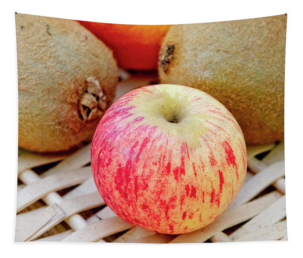 Fruit Tapestry featuring the photograph Fruit Basket. Apple. by Elena Perelman