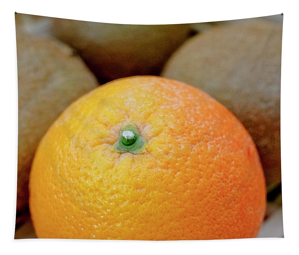 Fruit Tapestry featuring the photograph Fruit Basket. Orange. by Elena Perelman