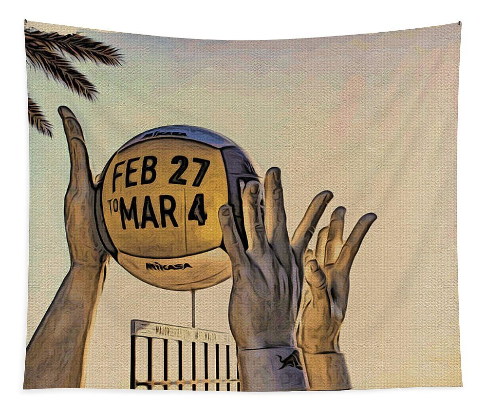 Alicegipsonphotographs Tapestry featuring the photograph Ft Lauderdale Volleyball Time by Alice Gipson