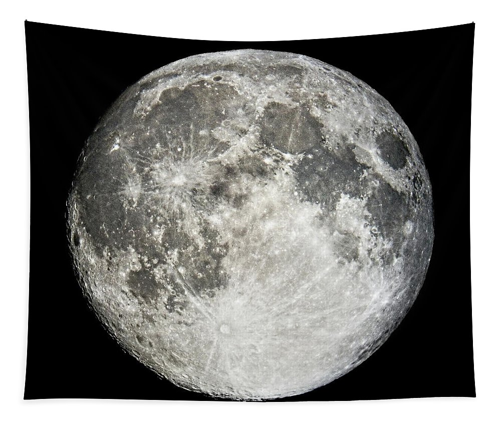 Full Moon Tapestry featuring the photograph Full Moon Rising by Weston Westmoreland