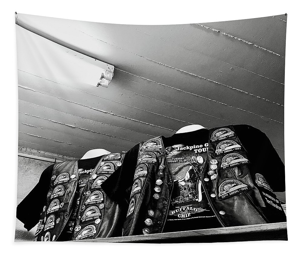 Portrait Tapestry featuring the photograph Full Sturgis Jacket by FlyingFish Foto