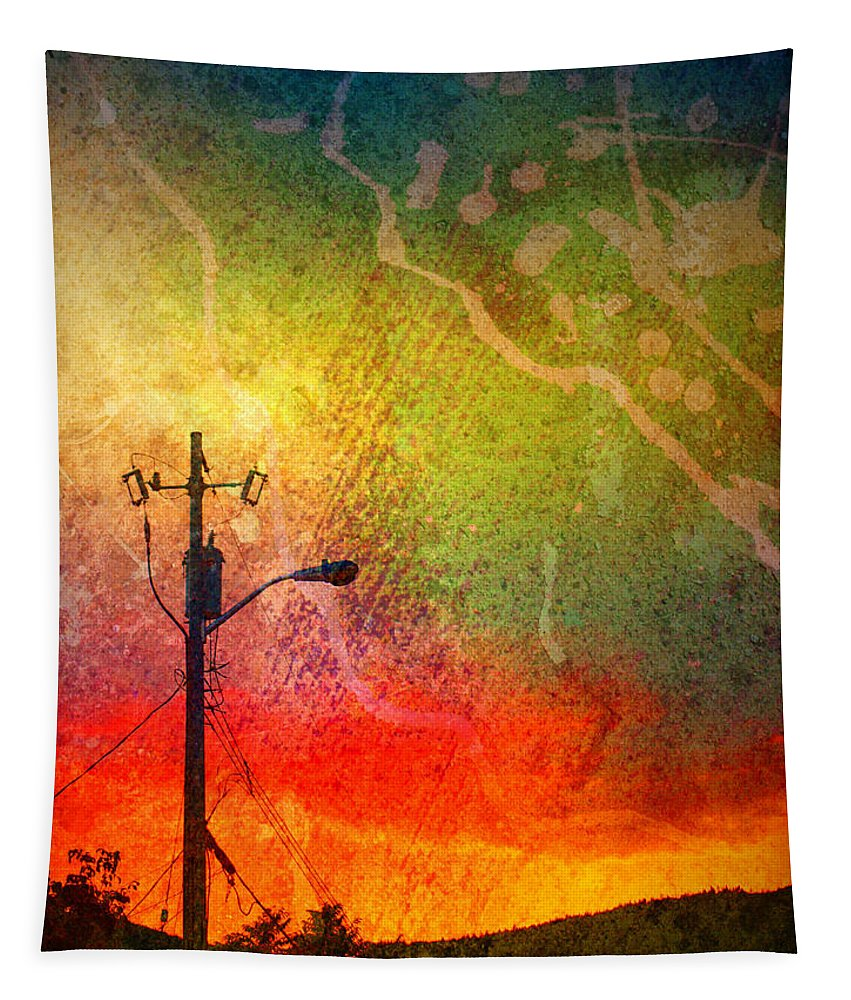 Paint Tapestry featuring the photograph Funky Sunset by Tara Turner