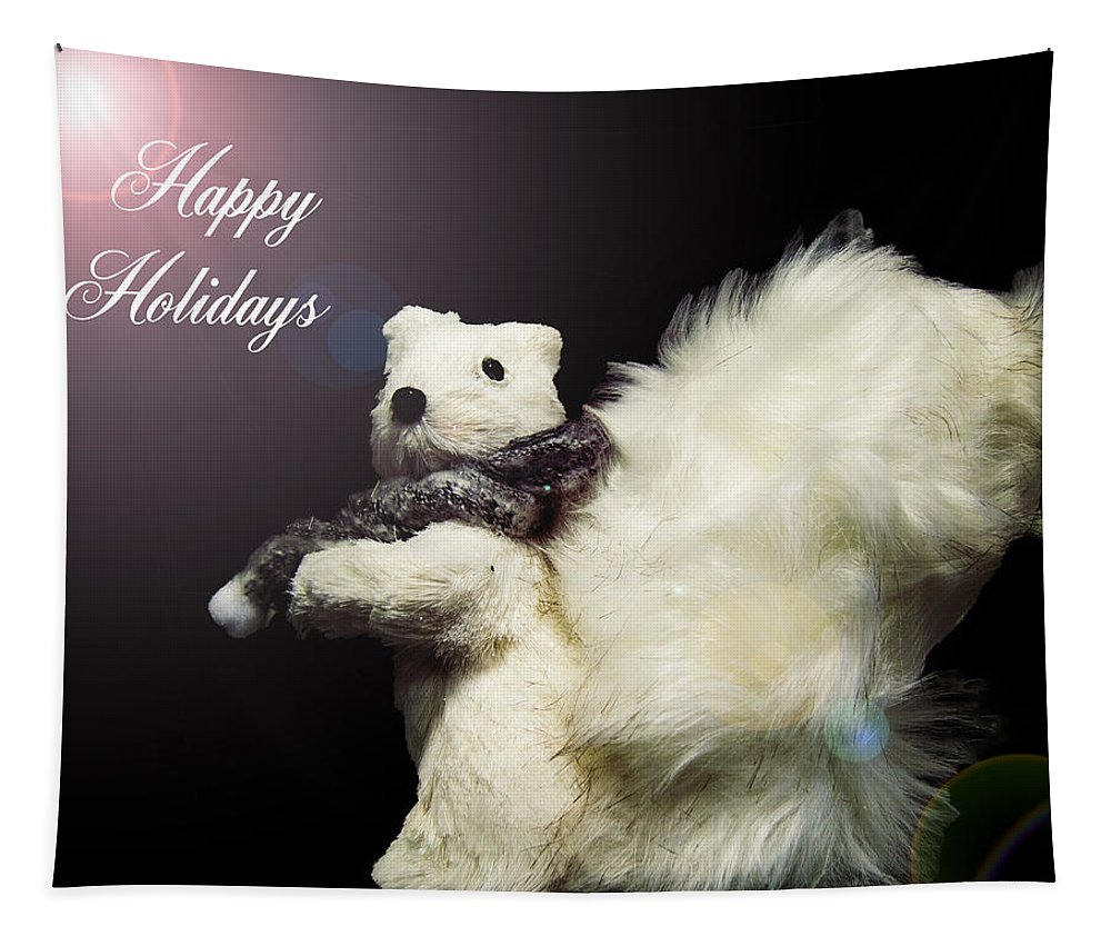 Angel Tapestry featuring the photograph Furry Holiday by Leticia Latocki