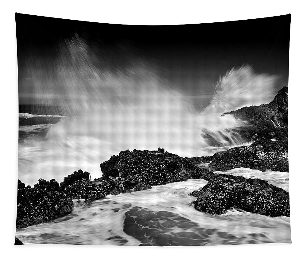 Waves Tapestry featuring the photograph Fury by Mike Dawson