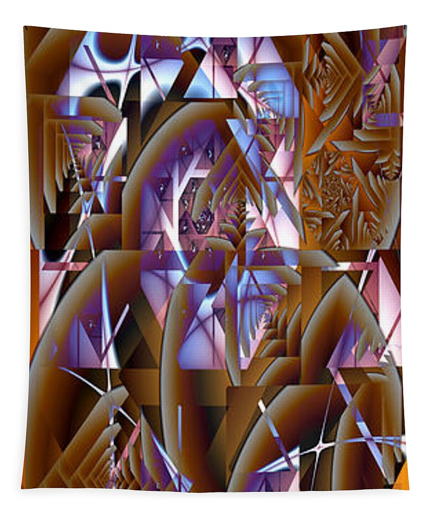 Fractal Tapestry featuring the digital art Future Gothic by Richard Ortolano