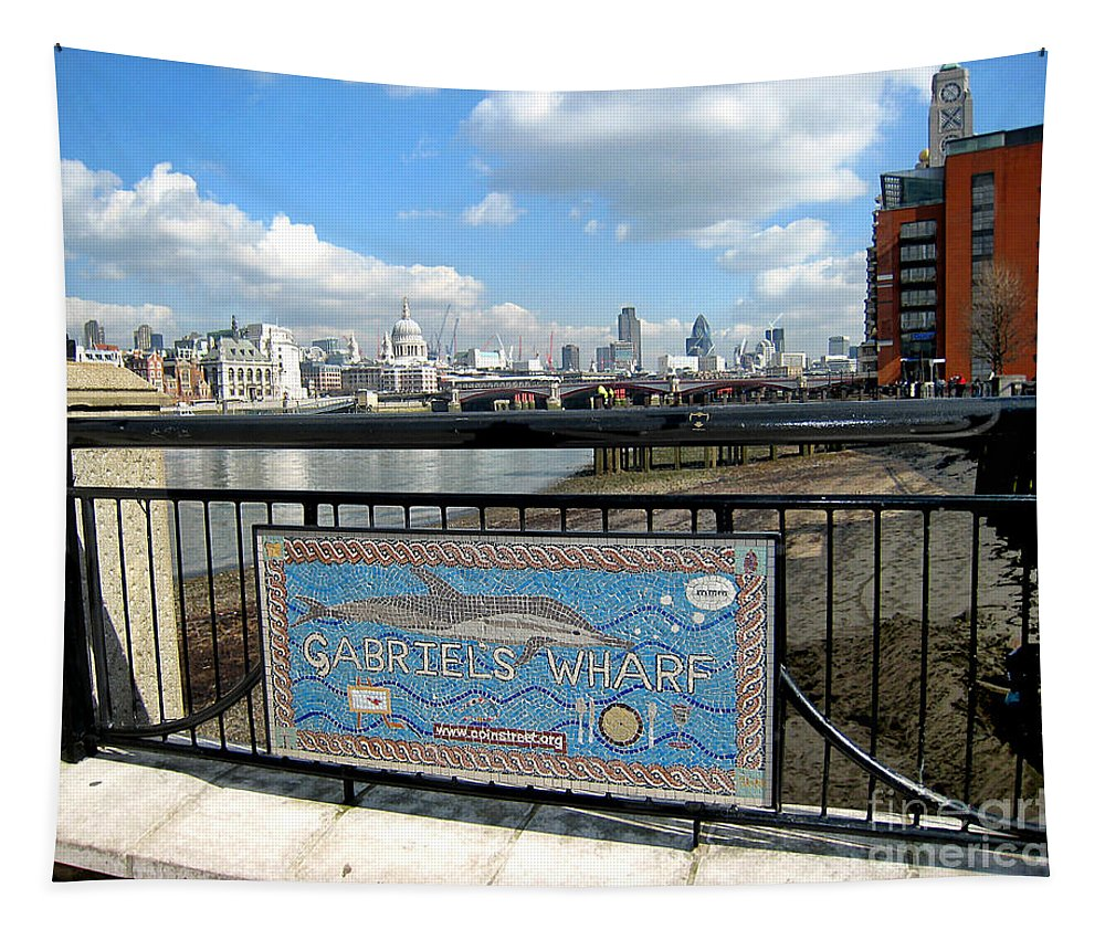 Wharf Tapestry featuring the photograph Gabriel's Wharf by Madeline Ellis