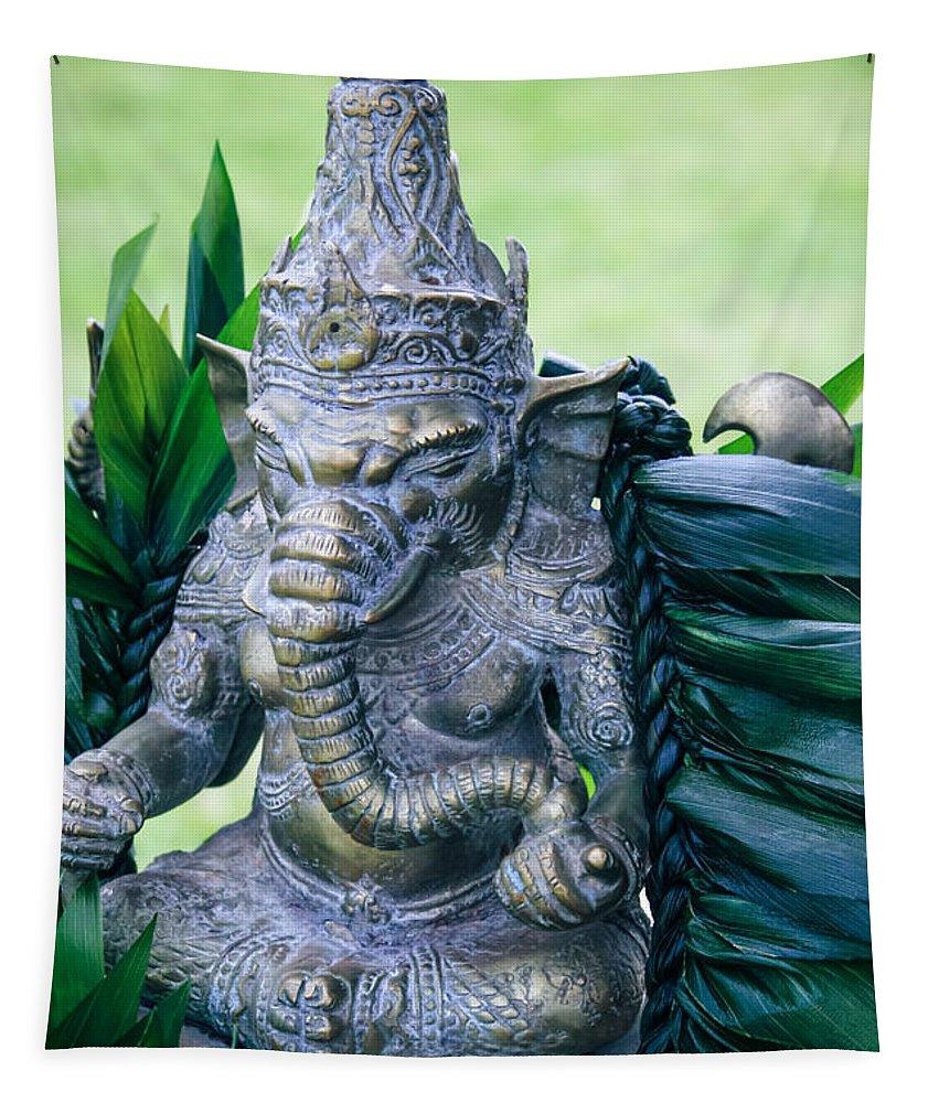Tapestry featuring the photograph Ganesha Ganesa Ganapati Vinayaka Pillaiyar Hindu Pantheon by Sharon Mau