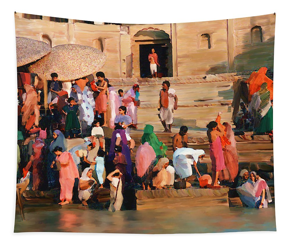 Ganges River Tapestry featuring the photograph Ganges by Kurt Van Wagner