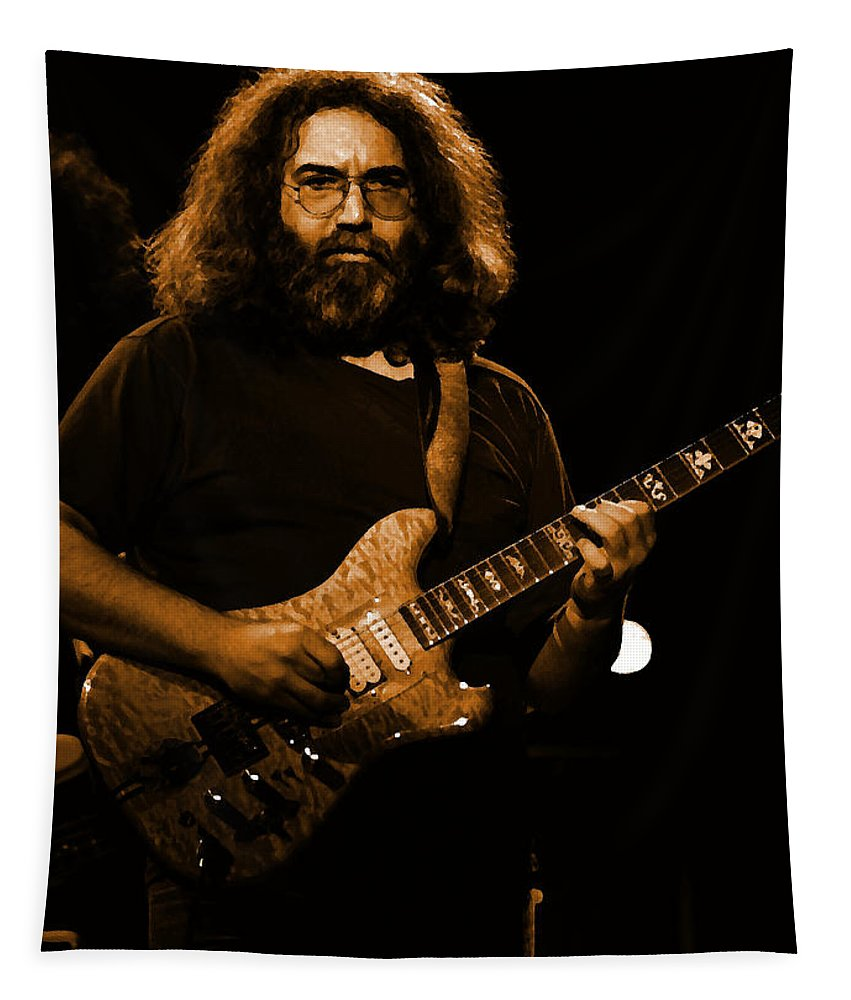 Jerry Garcia Tapestry featuring the photograph Garciart #12 In Amber by Ben Upham