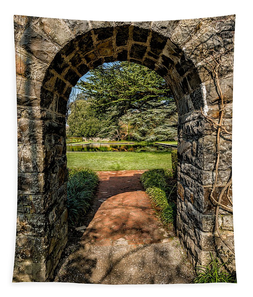 Garden Tapestry featuring the photograph Garden Archway by Adrian Evans