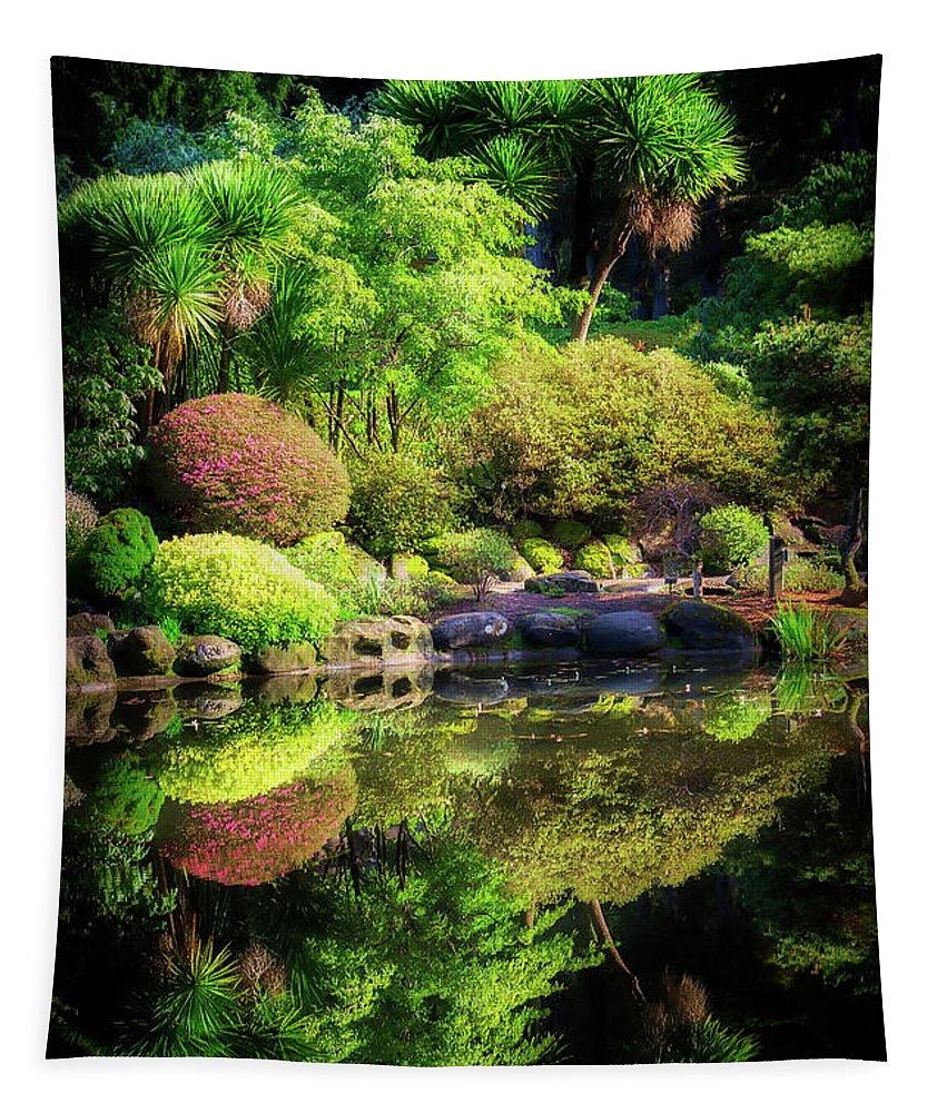 Garden Tapestry featuring the photograph Garden At Shores Acres by Chris Sveen
