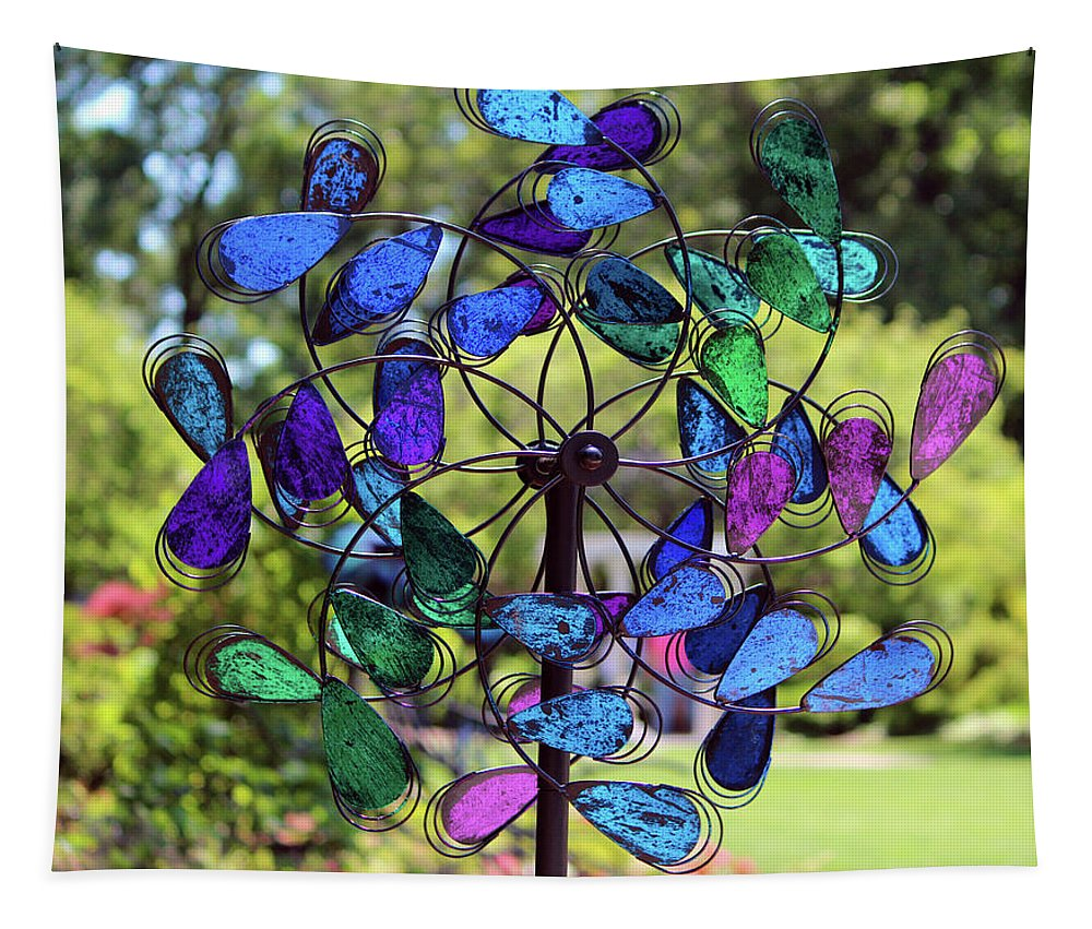 Spin Tapestry featuring the photograph Garden Colored Fan by Cynthia Guinn
