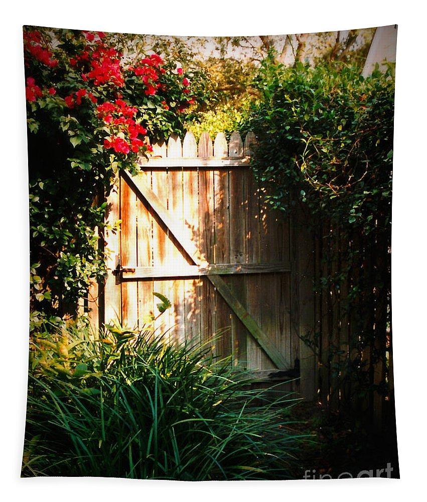 Garden Gate Tapestry featuring the photograph Garden Gate by Carol Groenen