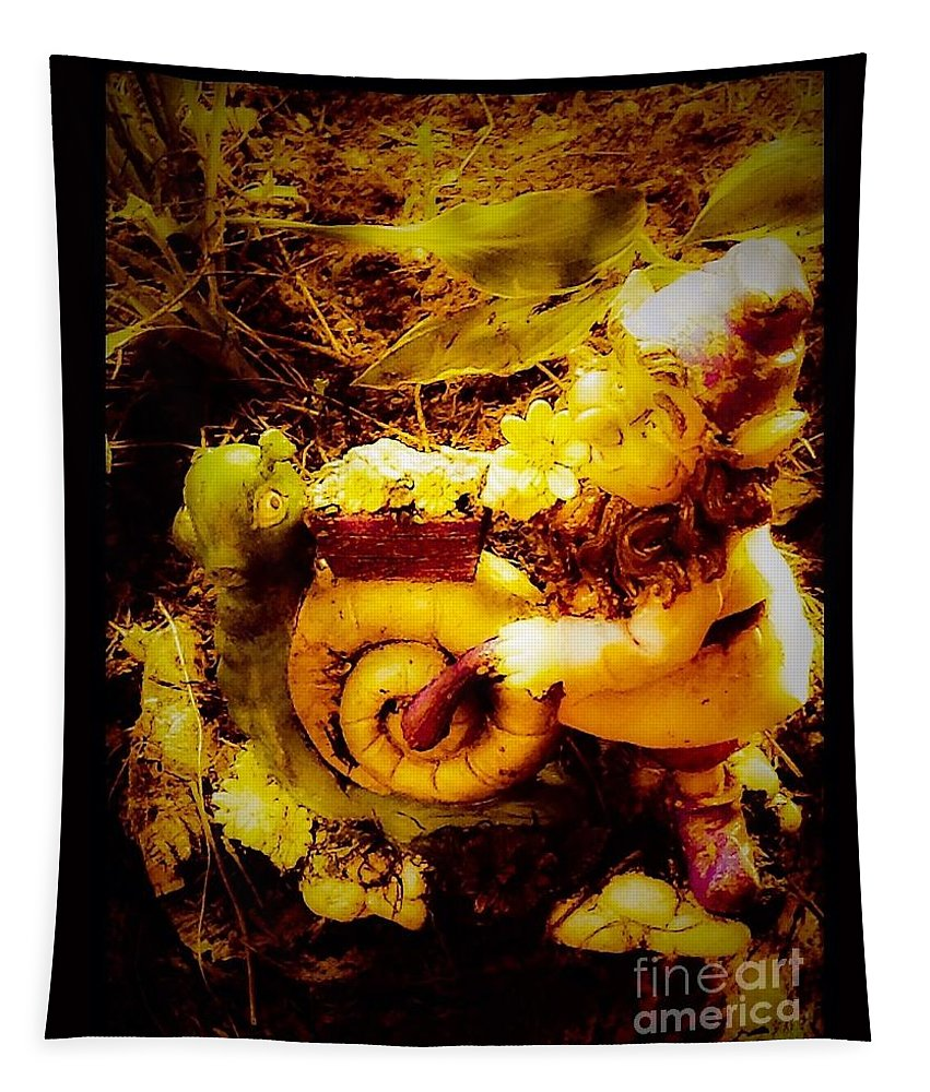Garden Tapestry featuring the photograph Garden Gnome by Debra Lynch