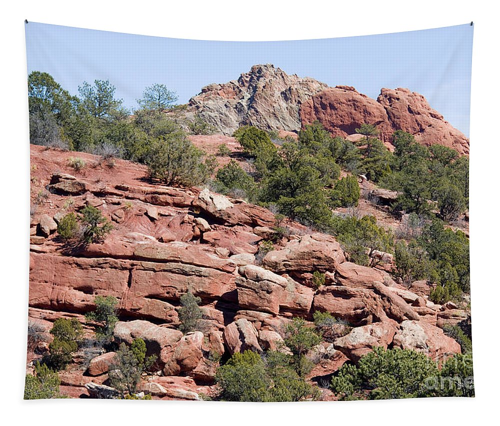 Garden Of The Gods Tapestry featuring the photograph Garden Of The Gods Park by Steve Krull