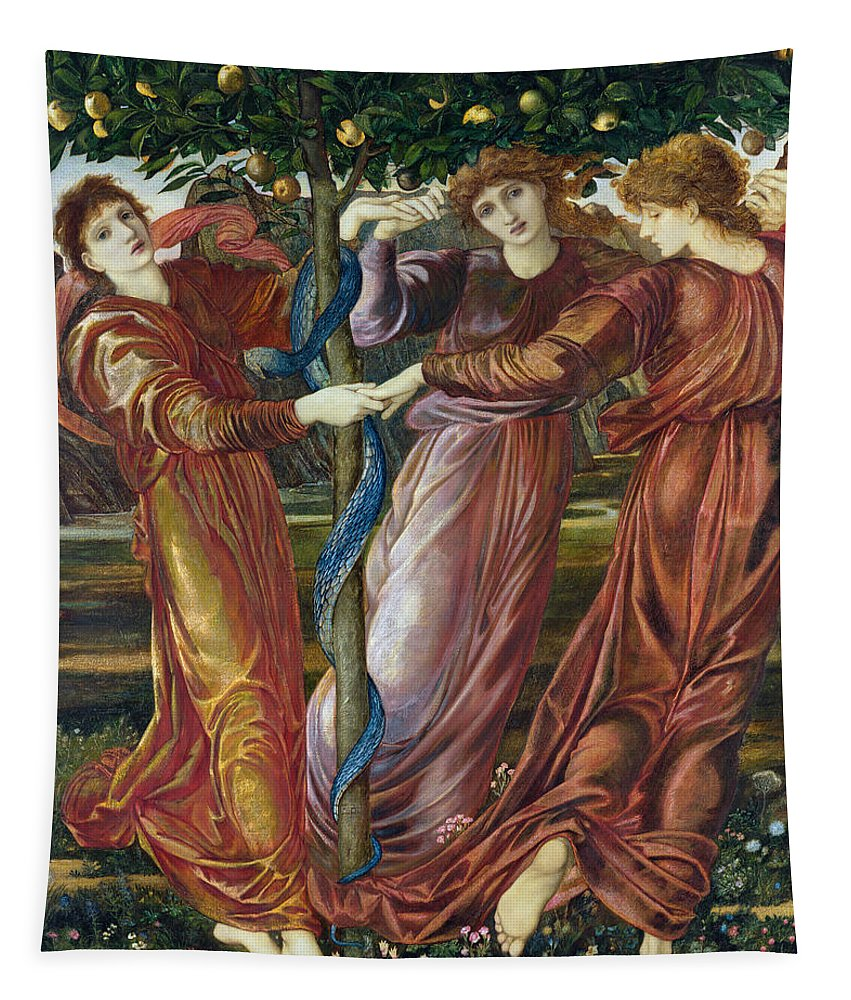 Garden Tapestry featuring the painting Garden Of The Hesperides by Sir Edward Burne Jones