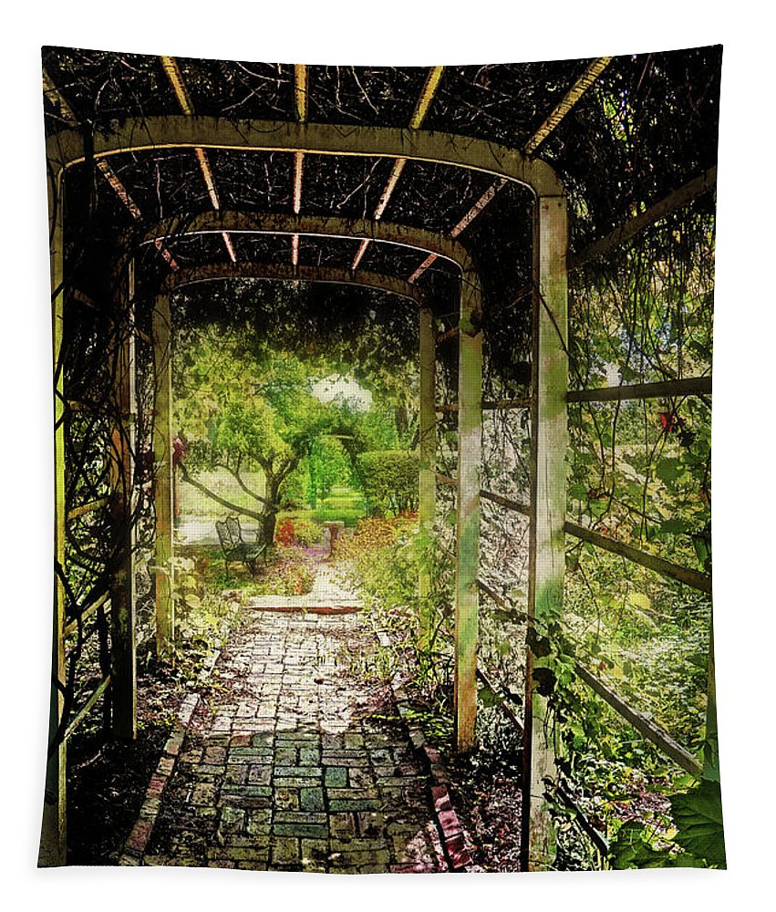 Garden Tapestry featuring the photograph Garden Path by John Anderson