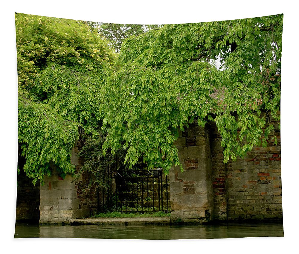 Cam Tapestry featuring the photograph Gate To Cam Waters. by Elena Perelman