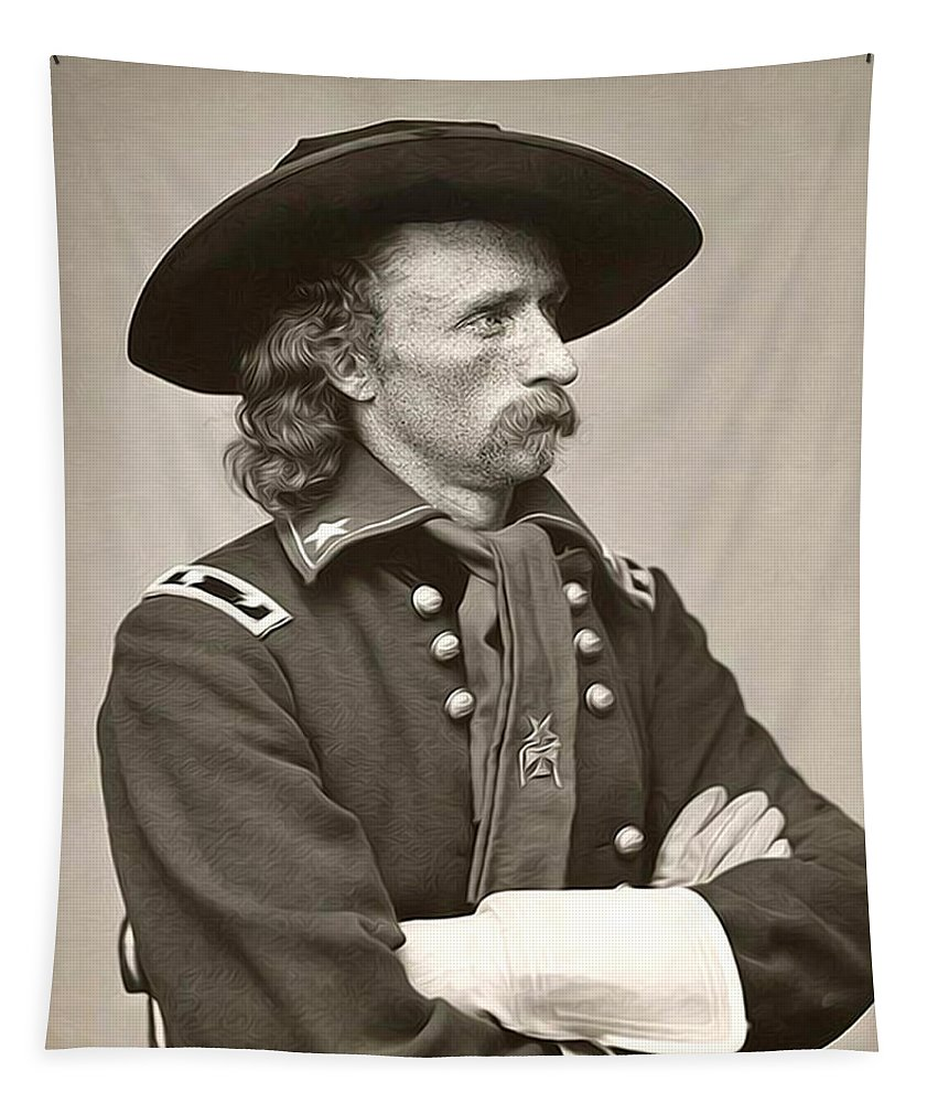 General Custer Tapestry featuring the photograph General Custer by Bill Cannon