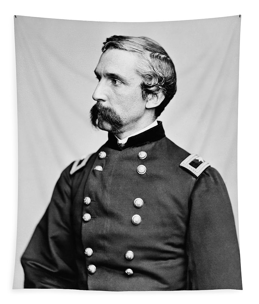 Joshua Lawrence Chamberlain Tapestry featuring the photograph General Joshua Chamberlain by War Is Hell Store