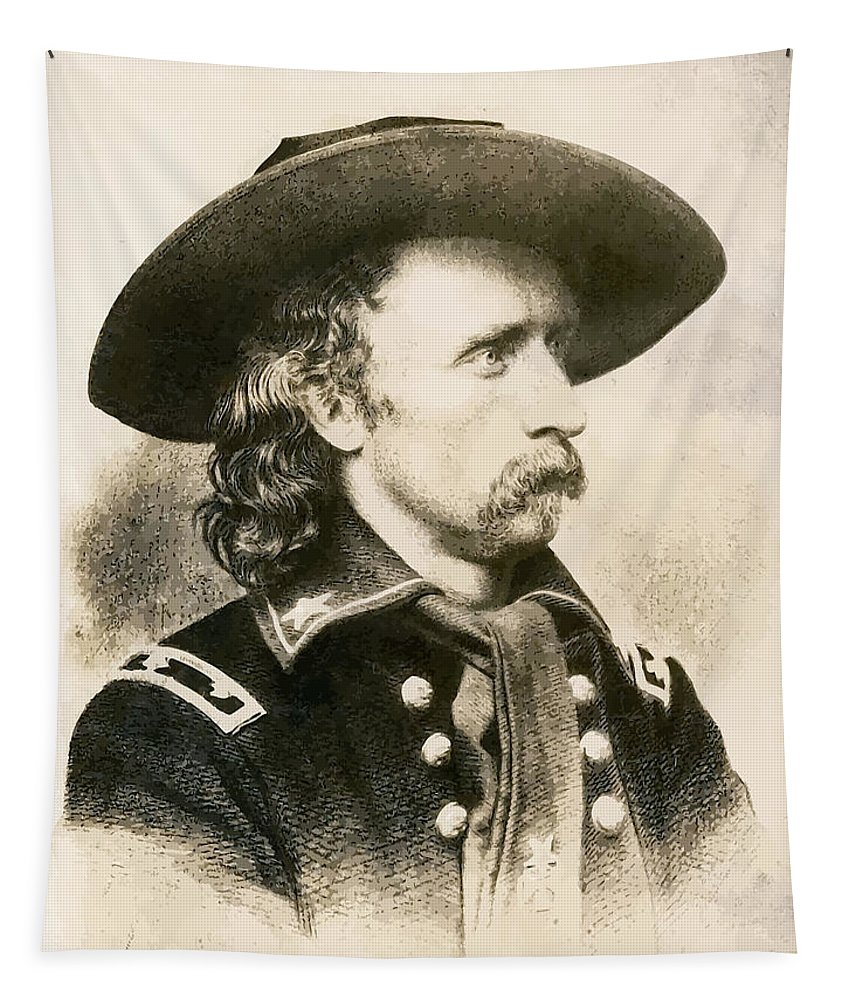 Custer Tapestry featuring the painting George Armstrong Custer by War Is Hell Store