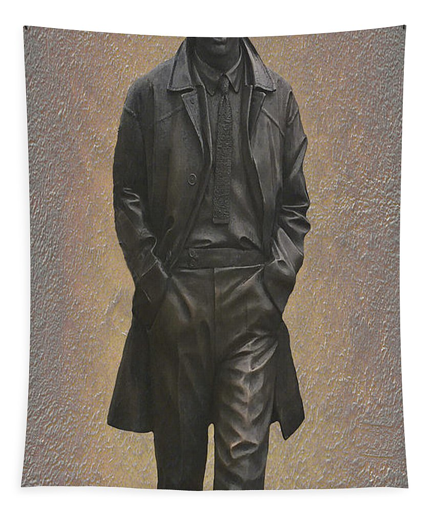 George Harrison Tapestry featuring the mixed media George Harrison N F by Movie Poster Prints
