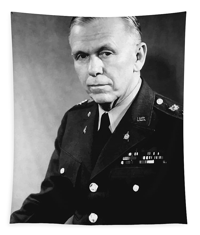 George Marshall Tapestry featuring the painting George Marshall by War Is Hell Store