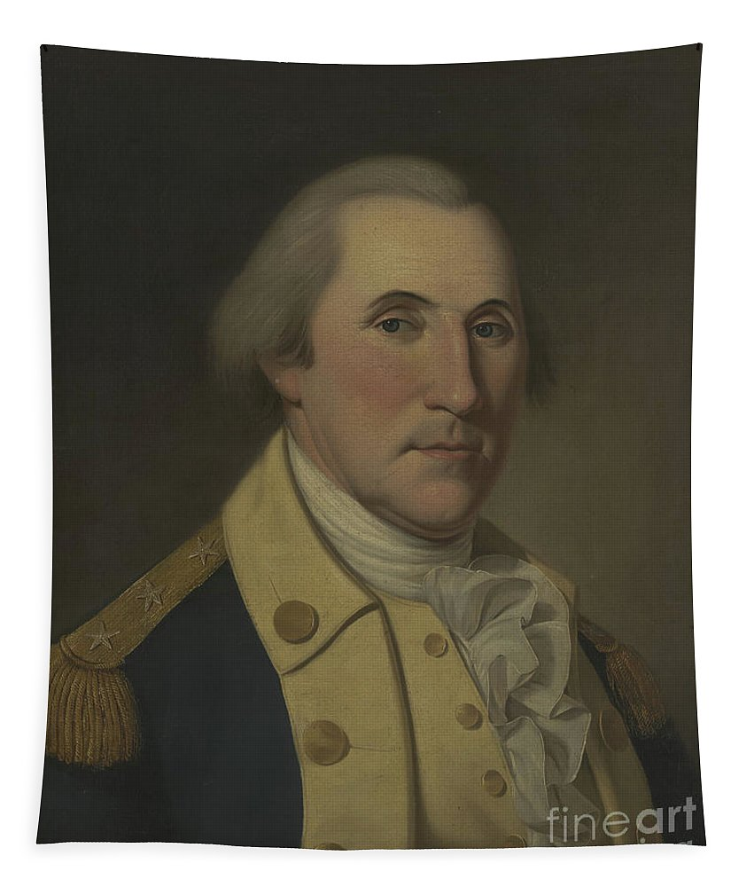 George Washington Tapestry featuring the painting George Washington, 1788 by Charles Willson Peale