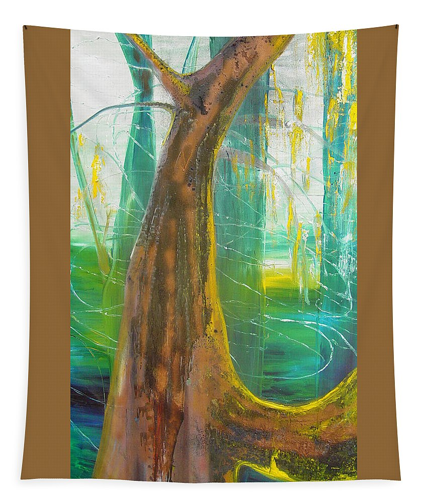 Landscape Tapestry featuring the painting Georgia Morning by Peggy Blood