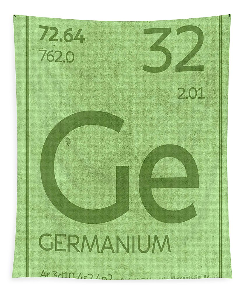 Germanium Tapestry featuring the mixed media Germanium Element Symbol Periodic Table Series 032 by Design Turnpike